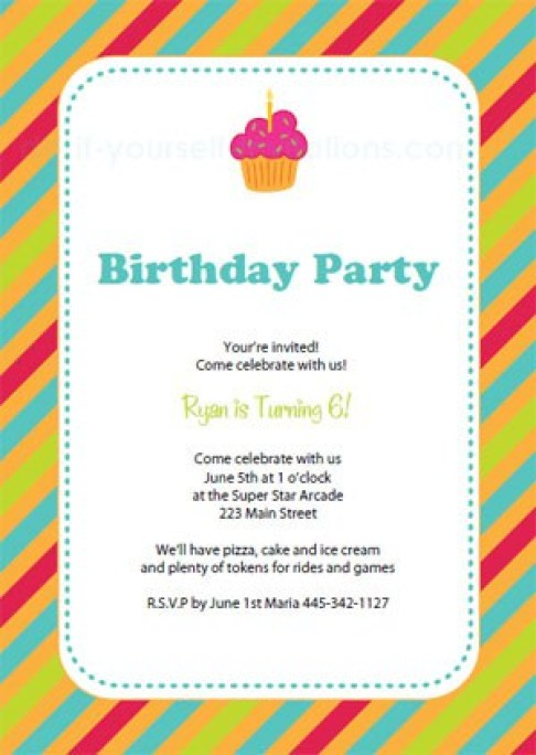 Birthday Invitation 544