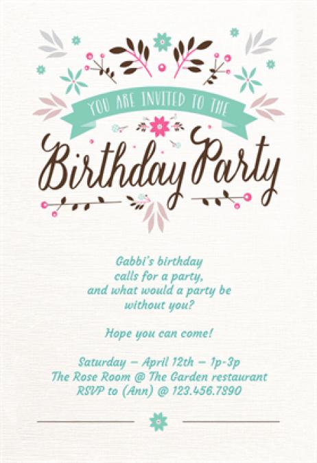 Birthday Invitation 6565