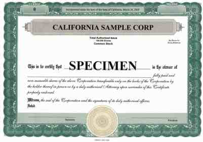 ShareStock Certificate Template 87545