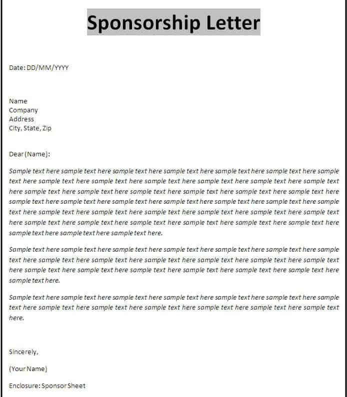 Sponsorship Proposal 124 In Example Of Sponsorship Proposal