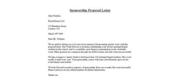 Sponsorship Proposal 4154