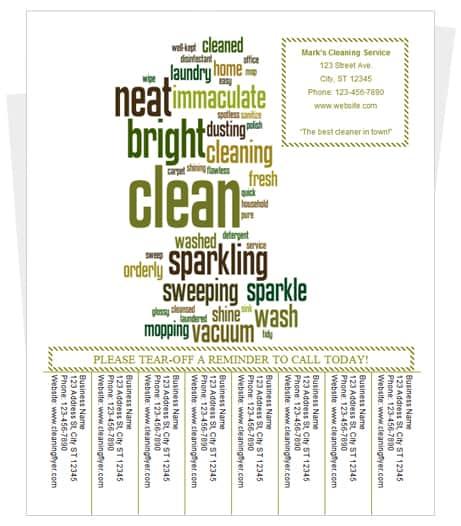 18 tear-off flyer templates