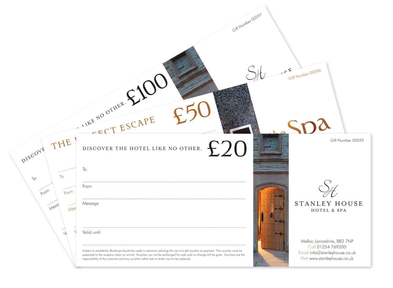 Gift Voucher Template 5454  Hotel Gift Certificate Template