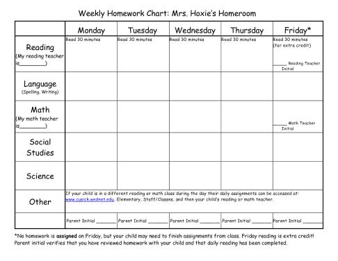 homework template 85487
