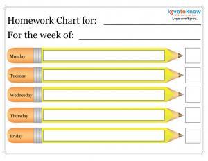 homework assignment sheet template