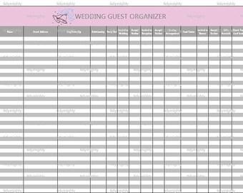 wedding invitation excel template