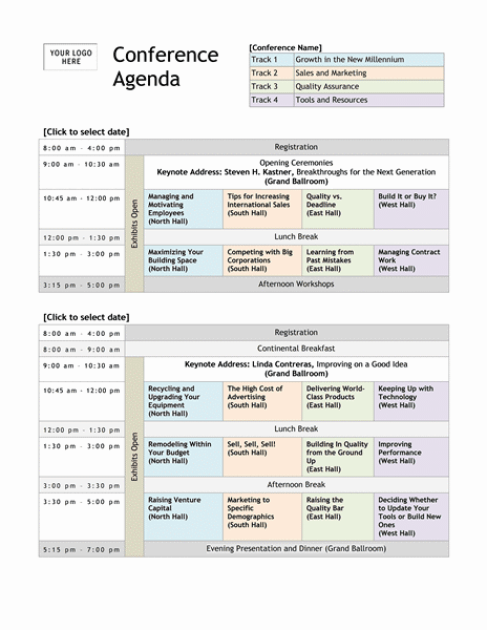 Meeting Agenda template 4578