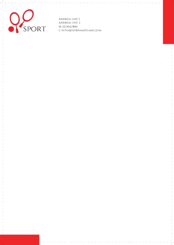 company letterhead template 8791