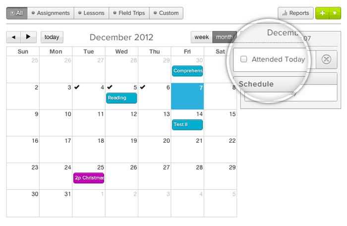 attendance tracking calendar
