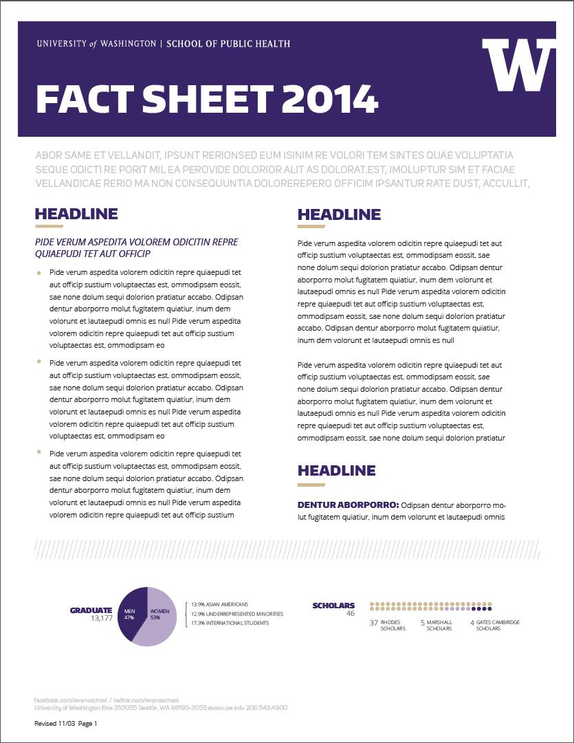 Fact Sheet Template 5412