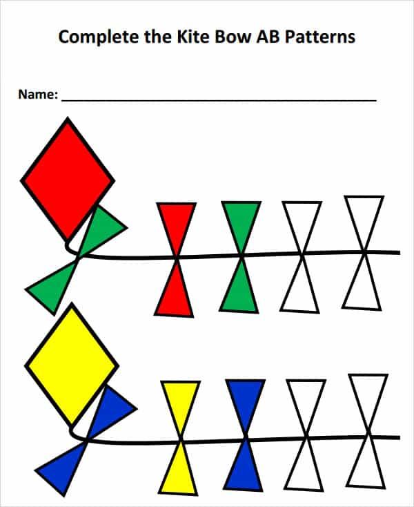 Printable Kite Pattern PartsKitePrintable Coloring Pages Free