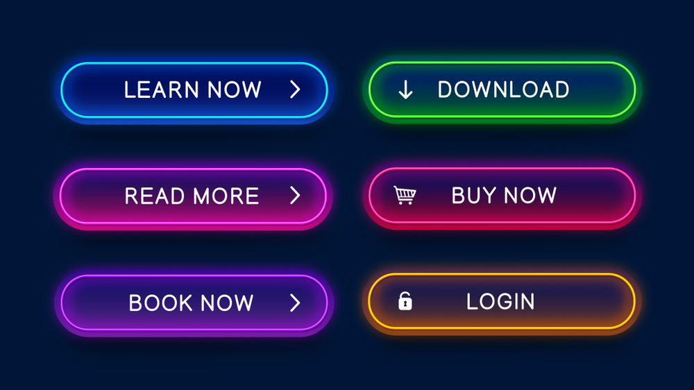 call to action buttons in neon color in company profile malaysia