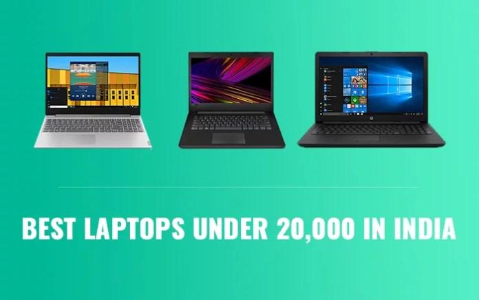 Top 3 best laptops under 20000 INR in India