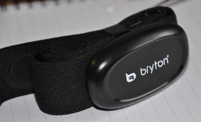 Bryton Heart Rate Monitor (HRM)  fitted to the Polar strap