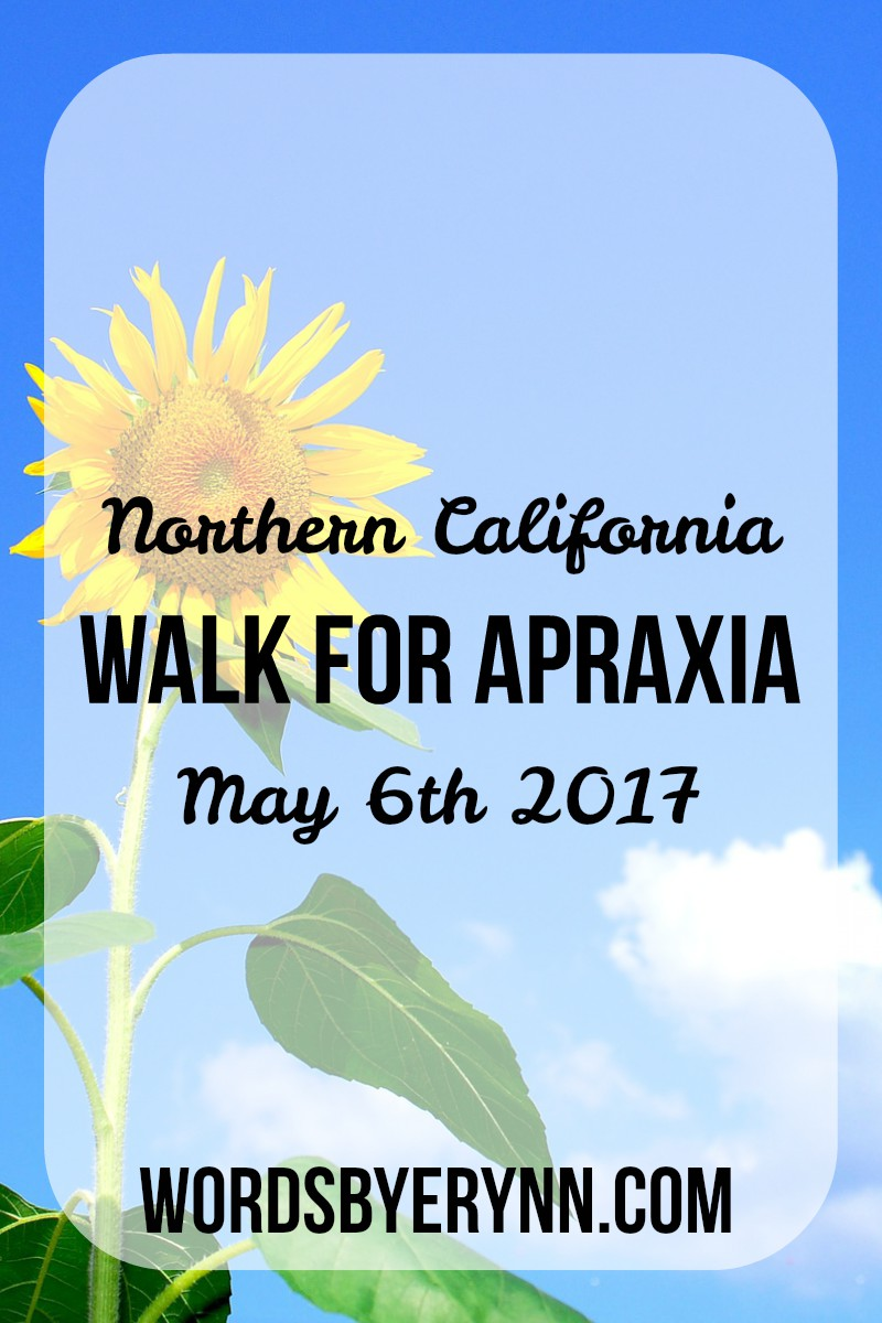 Support kids affected by childhood apraxia of speech, and attend the 2017 Northern California Walk for Apraxia in Sutter Creek, CA!