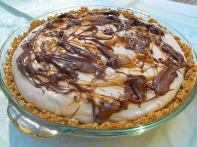 Peanut Butter Cream Pie (With Pretzel Crust)