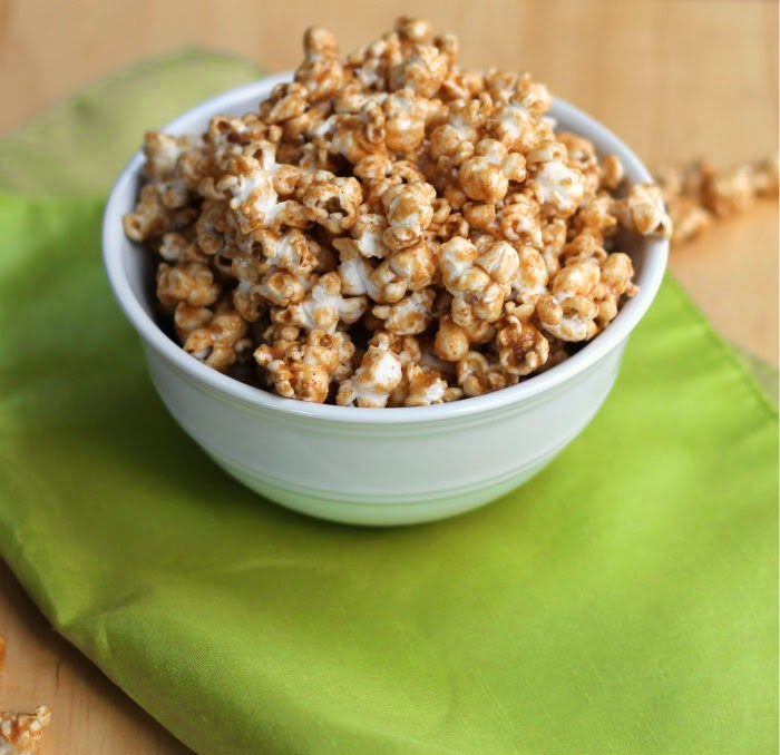 Peanut Butter and Cinnamon Popcorn - Words of Deliciousness