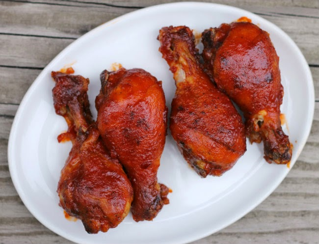 Pan Seared Oven Roasted BBQ Chicken Drumsticks