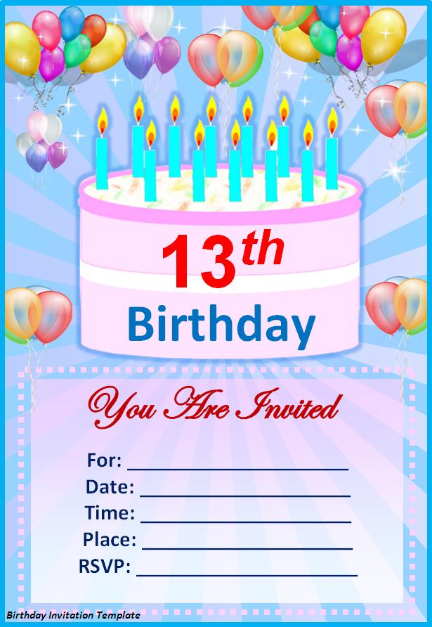 Download Free Birthday Invitation Template: