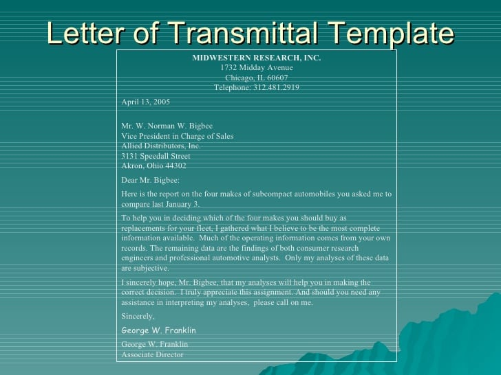letter of transmittal template 5