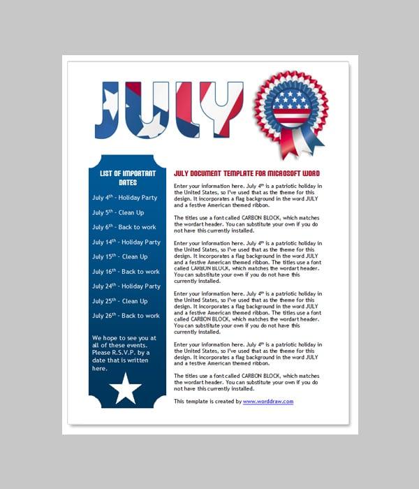 newsletter word template 2
