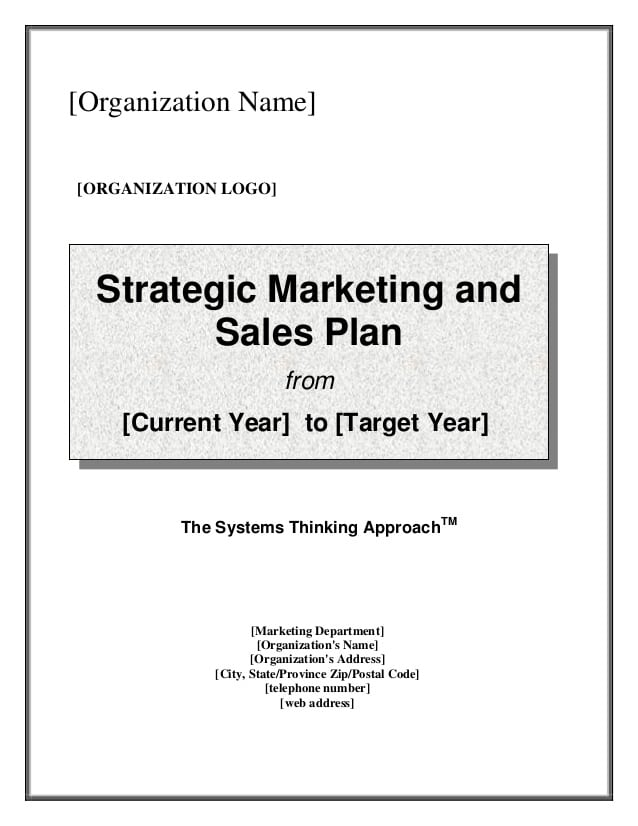 sales plan template image 1