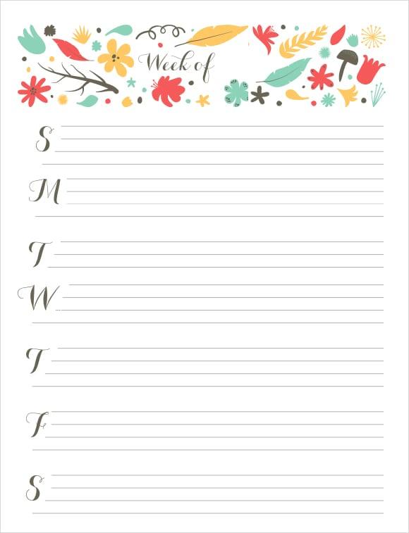 weekly calendar image 2