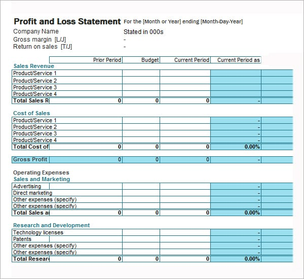 Profit and Loss statement image 6