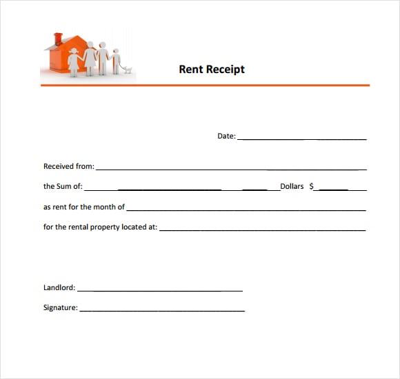rent receipt template image 4