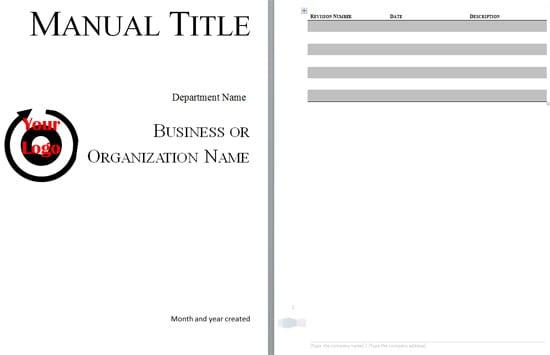 training manual template 1