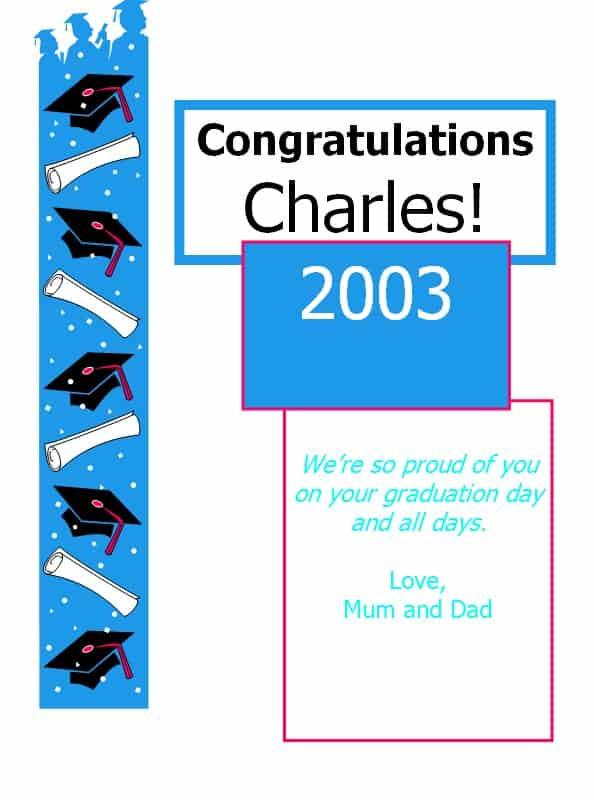 Congratulations Card Template  Congratulations Card Template