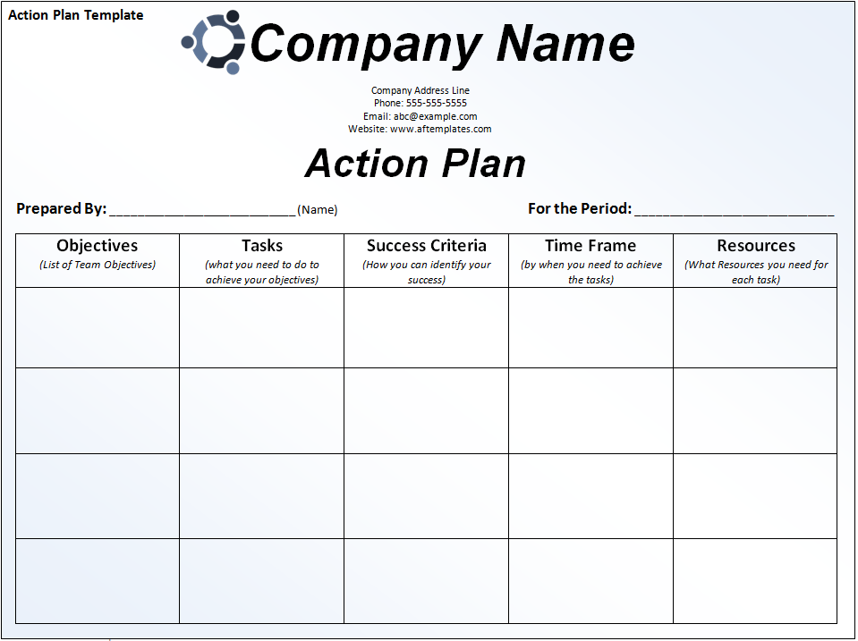 13  action plan templates
