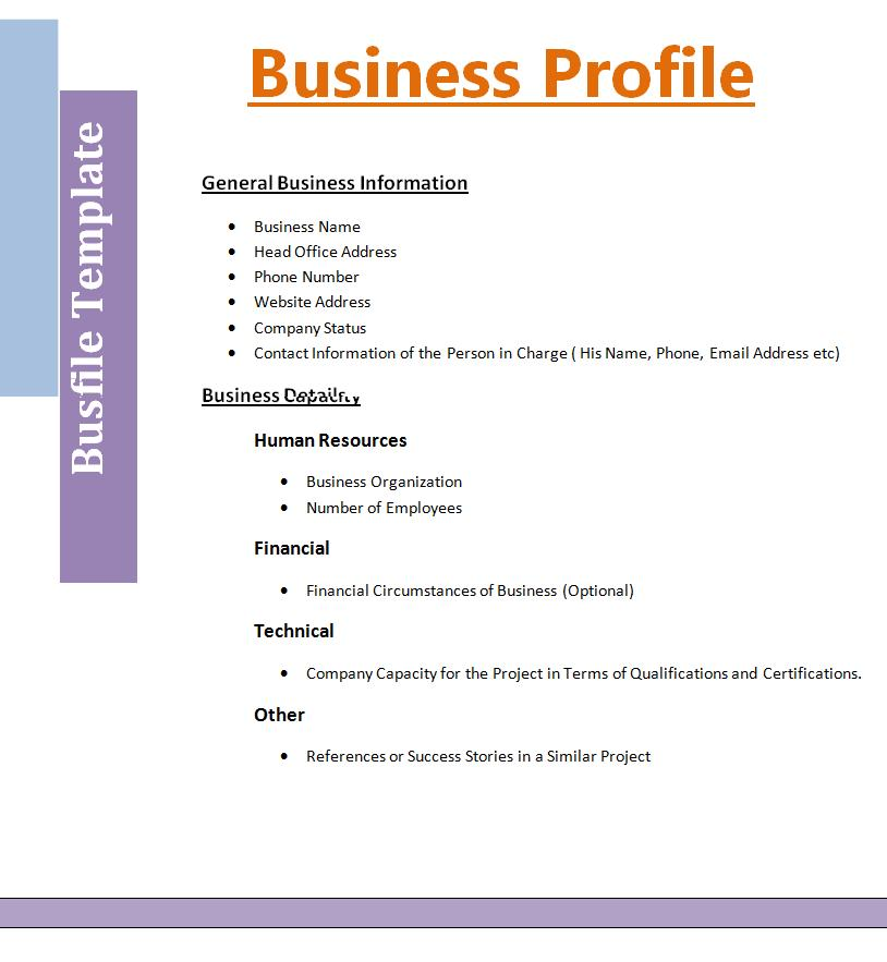 2 Best Business Profile Templates – Sample Business Profile Template
