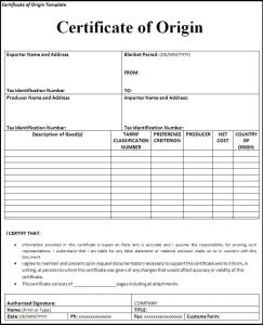 Certificate of origin template asafonec certificate of origin template yadclub Image collections