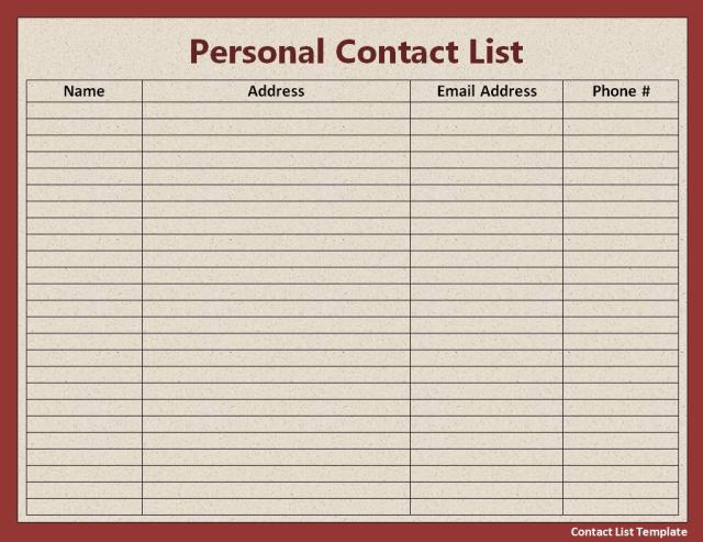 Contact list template free printable important contact list contact list template free word templates pronofoot35fo Gallery