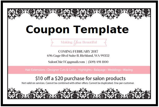 salon coupon template