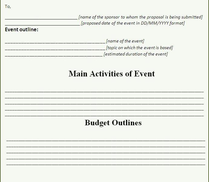 event proposal template word