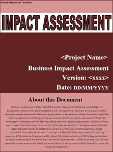 impact assessment template