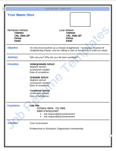 Job-Resume-Template