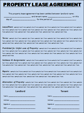 10 Lease Agreement Templates Free Word Templates