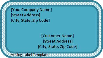 Mailing Label Template  Package Label Template