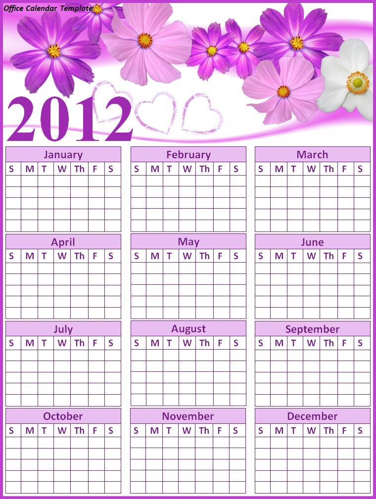 Office Calendar Template Free Word Templates