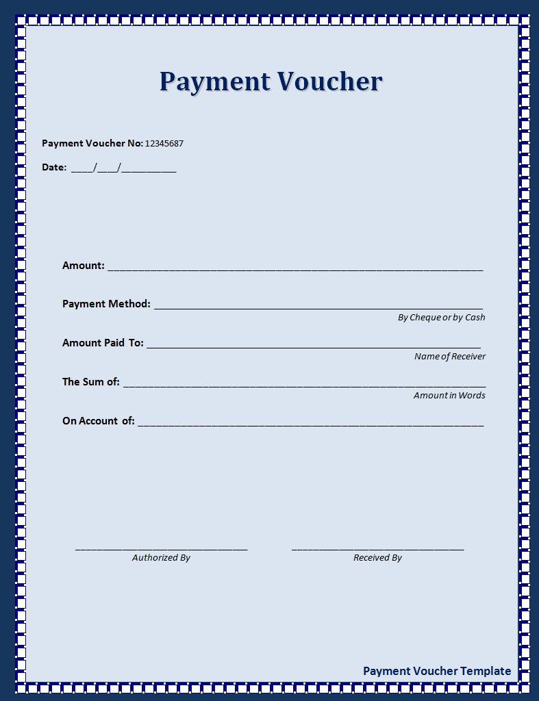 10 + Payment Voucher Templates | Printable Word & Excel Templates