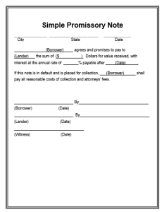 Playful image with free printable promissory note pdf