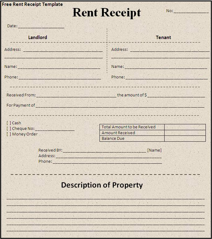 We Believe In Quality And Therefore, Offering Our Free Template For  Downloading Which Will Certainly Met Your Quality Standards.  Free Rent Receipts