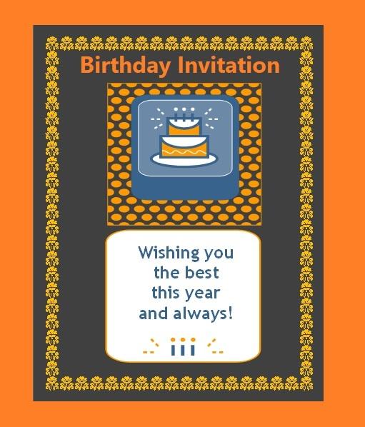 Simple Birthday Invitation Template  Microsoft Birthday Invitation Templates