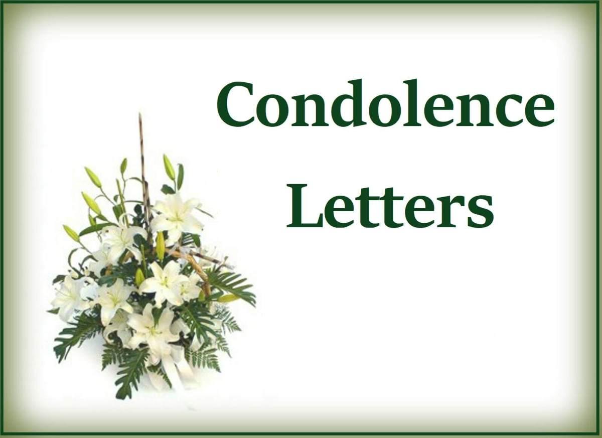condolence letter template