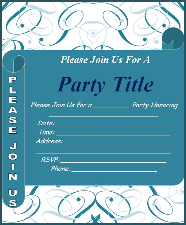 Event Invitation Template | Free Word Templates