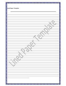 Lined-Paper-Template