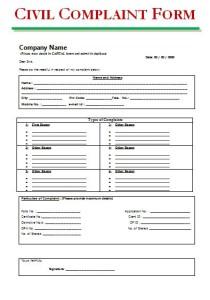 Civil Complaint Form